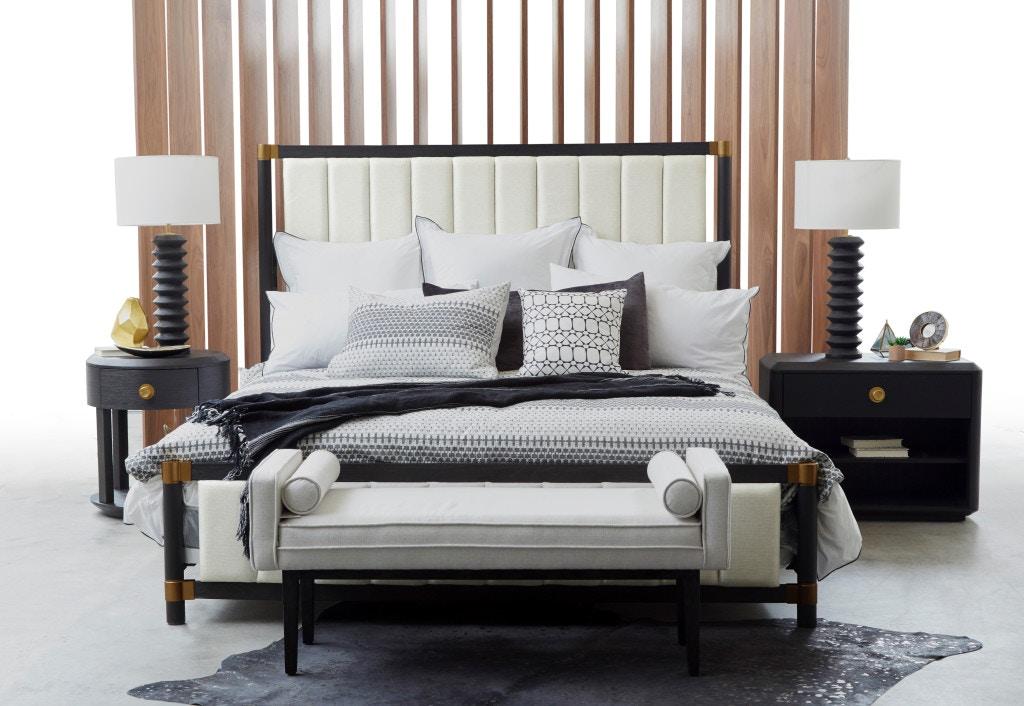 Pulaski Furniture D233 272 Bedroom King Wood Frame Upholstered Headboard