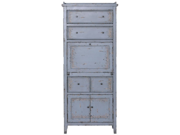 D303 304 Ski Furniture Weathered Blue Pantry Cabinet