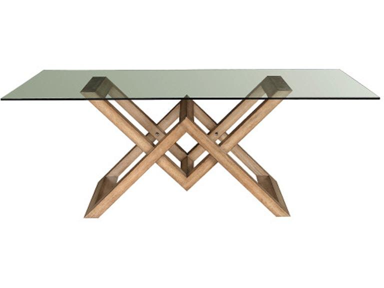 Pulaski Furniture P119145 Dining Room Art Of Dining Glass Top Dining