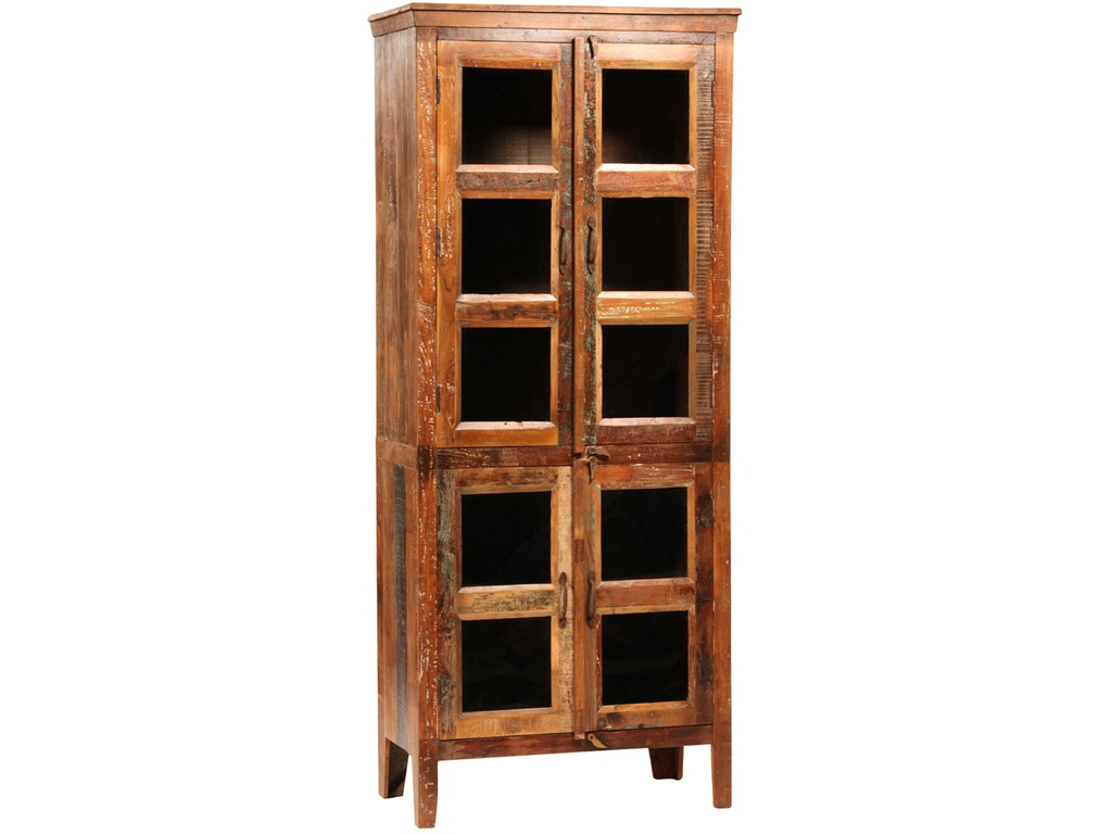 Dovetail furniture sem037 dining room nantucket glass cabinet for Dovetail furniture