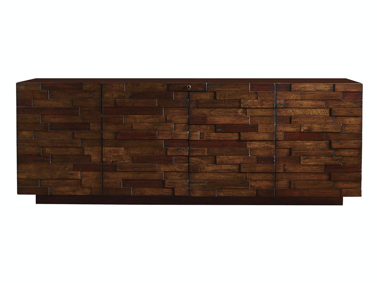 sligh furniture studio designs criss cross media console 100nl661