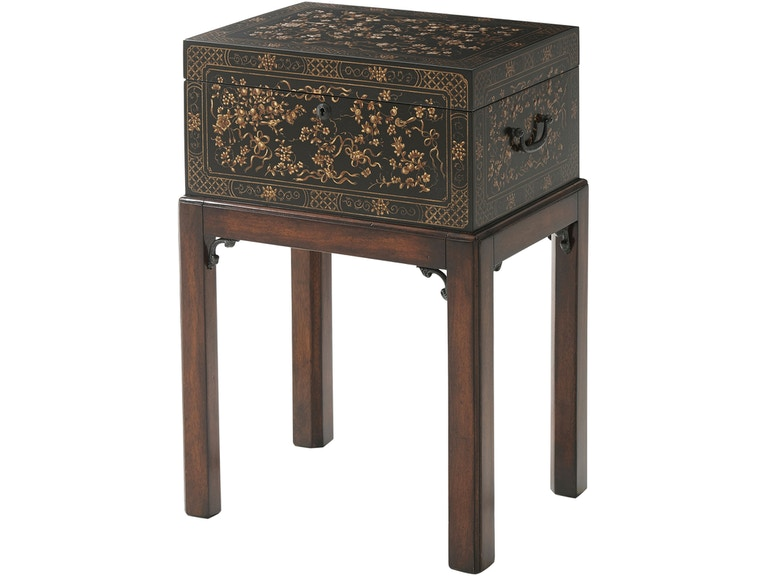 Theodore Alexander Furniture 1102 157 Living Room The Floral Painted Box Accent Table