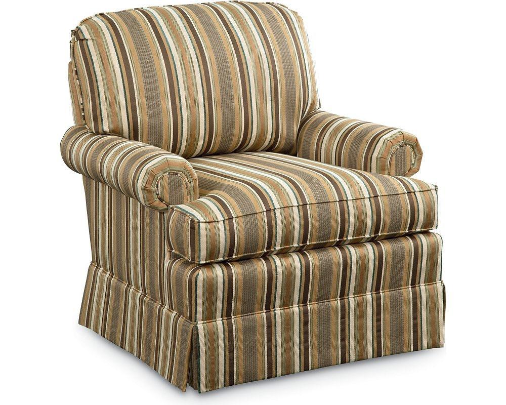 Thomasville Furniture Upholstery Atlantis Swivel Rocker Chair 1052 15SR