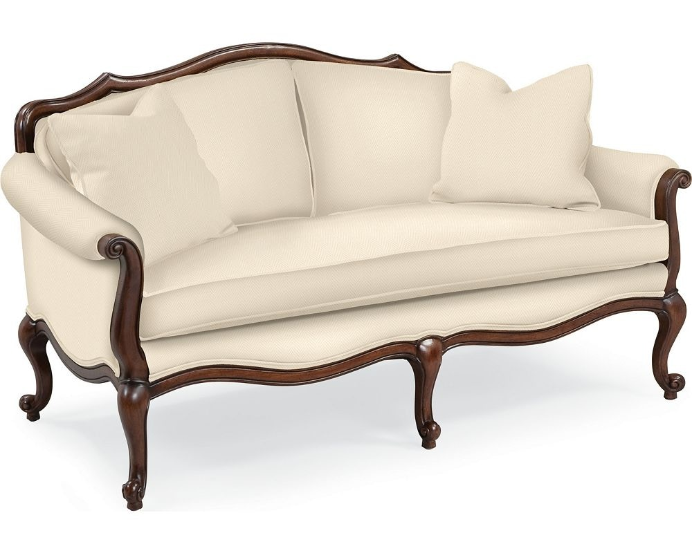 Thomasville Furniture Upholstery Devereux Settee With Double Welt Trim 1615  13