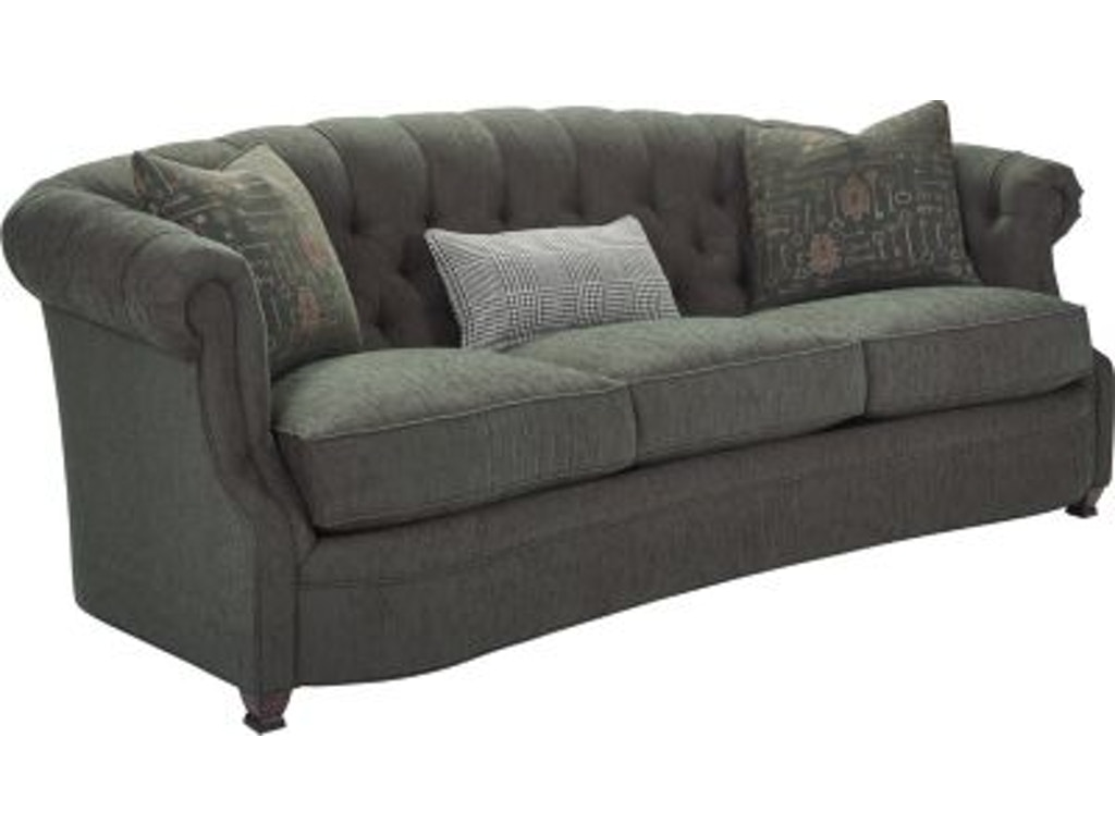 Thomasville Furniture Living Room Upholstered Chevis Sofa 2531 11