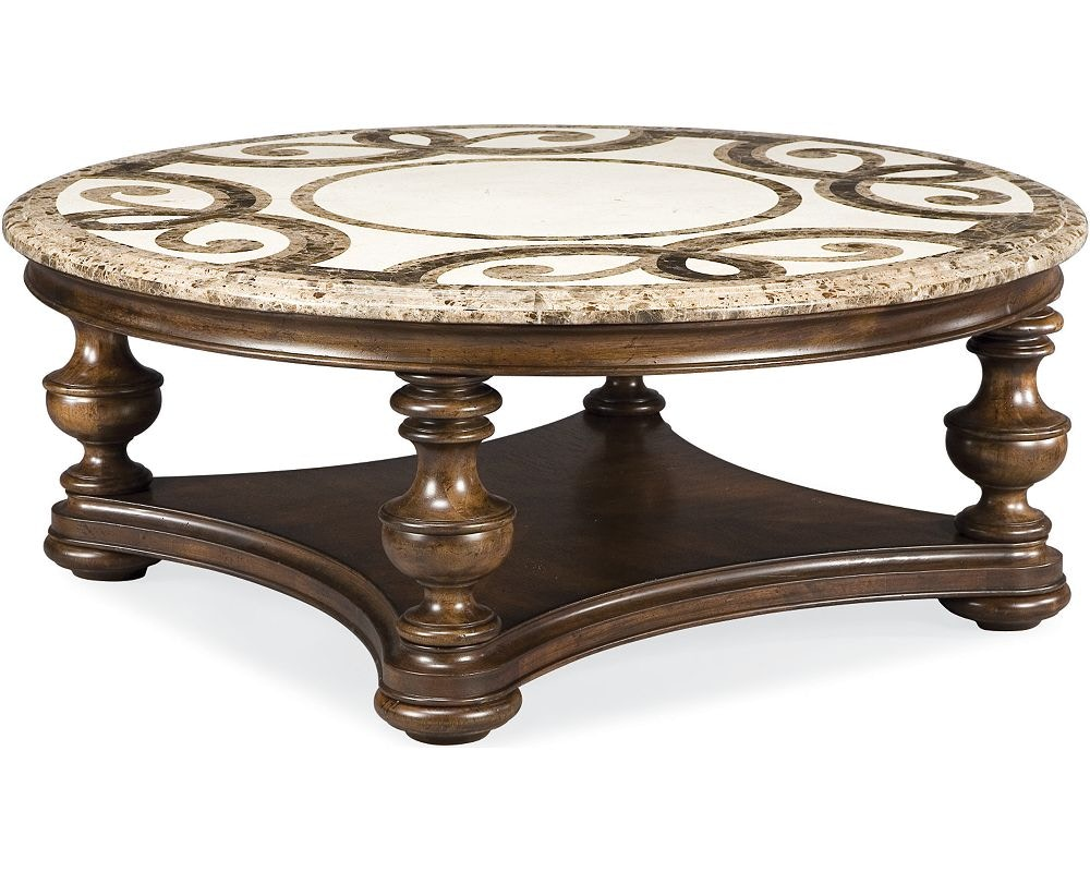 Thomasville Furniture Hills Of Tuscany Trebbiano Round Cocktail Table  (Stone Top) 43632 173