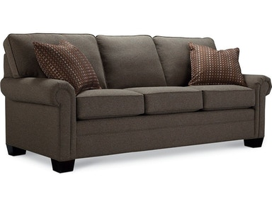 Thomasville Furniture Living Room Simple Choices Wedge Sofa - Thomasville leather sofas