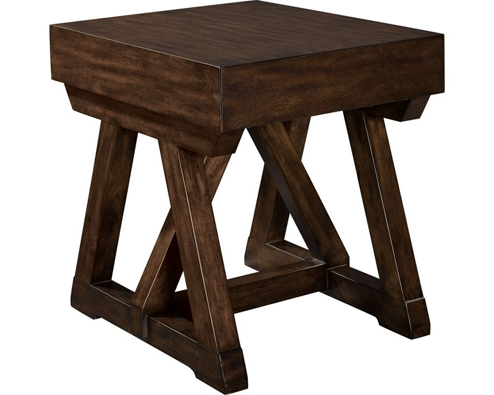 Thomasville Furniture 85531220 Living Room Brunell Lancing End Table