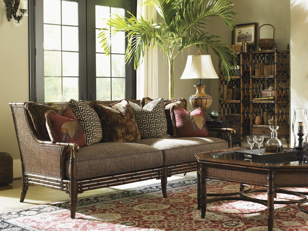 tommy bahama home living room landara las palmas sofa 1666 33 goods home furnishings north. Black Bedroom Furniture Sets. Home Design Ideas