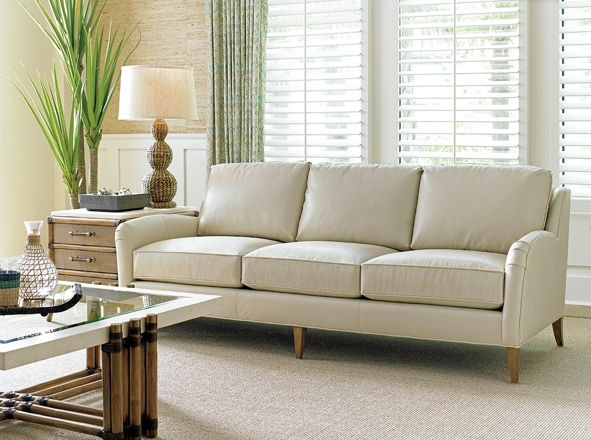 Tommy bahama sofa shop tommy bahama bedroom furniture coffee tommy bahama home twin palms coconut grove leather sofa ll728733 geotapseo Gallery