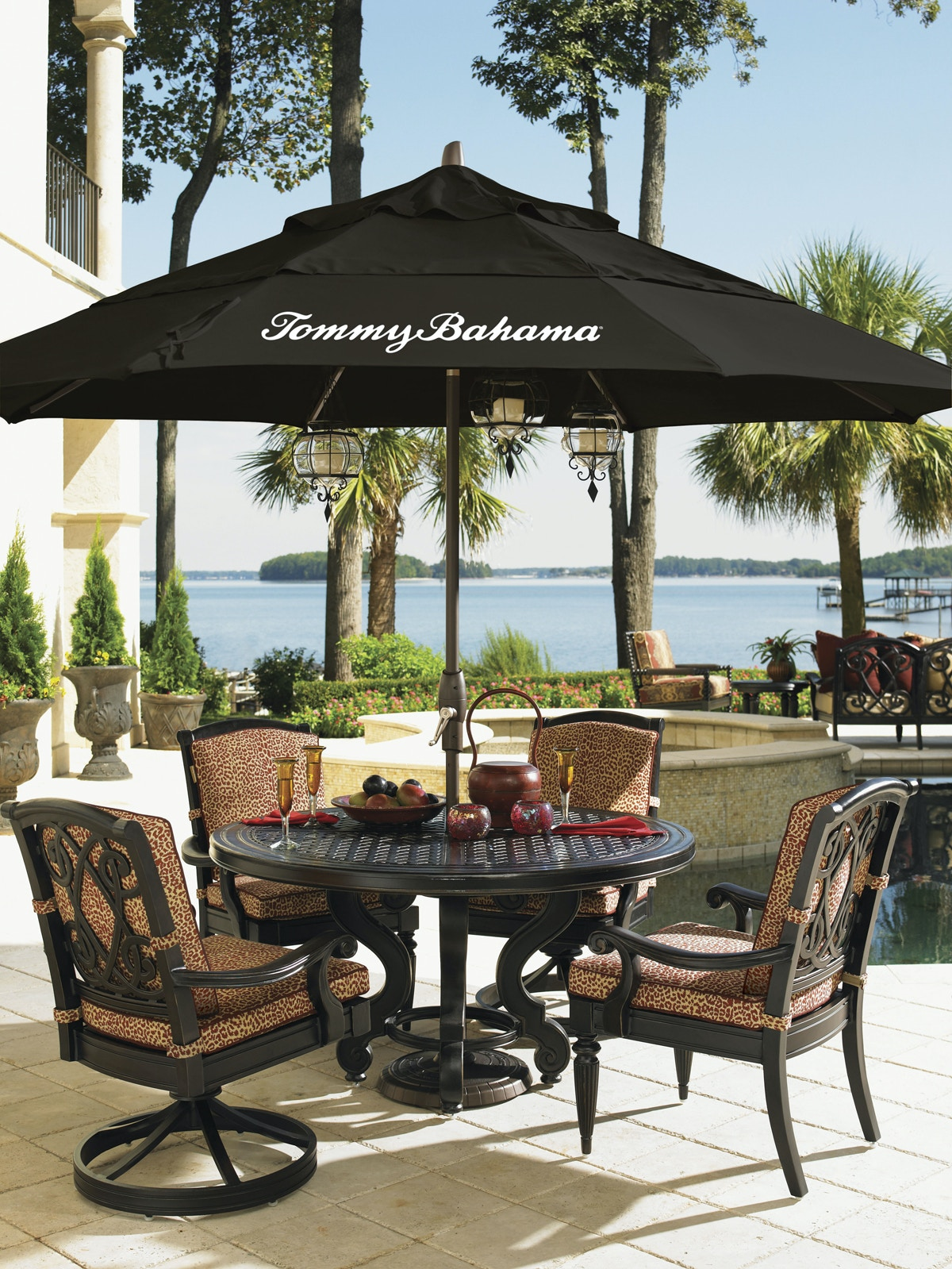 Tommy Bahama Outdoor Kingstown Sedona Dining Table W/Cast Top 3190 870CC
