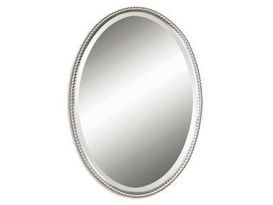 Uttermost Uttermost Sherise Brushed Nickel Oval Mirror 01102 B