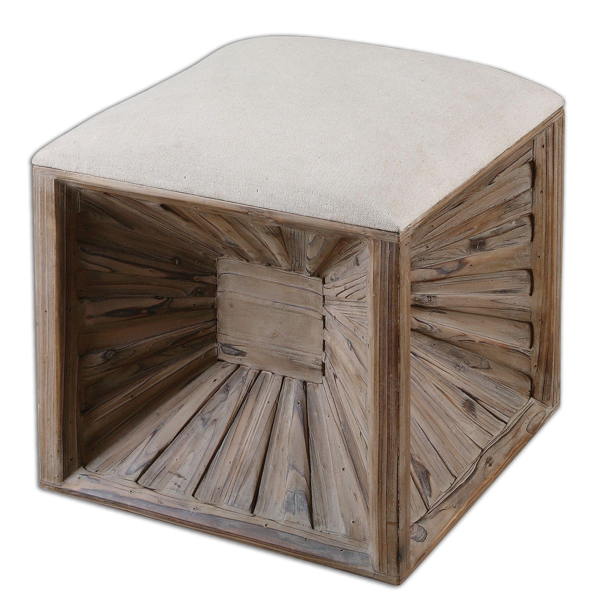 uttermost jia wooden ottoman
