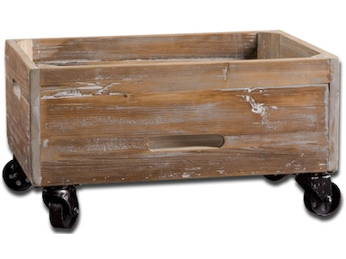 Uttermost Uttermost Stratford Reclaimed Wood Rolling Box 24247