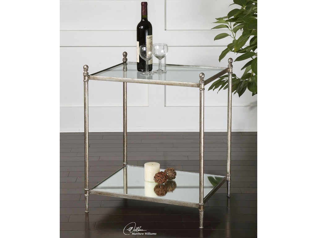24282 living room uttermost gannon mirrored glass end table uttermost gannon mirrored glass end table 24282 geotapseo Images