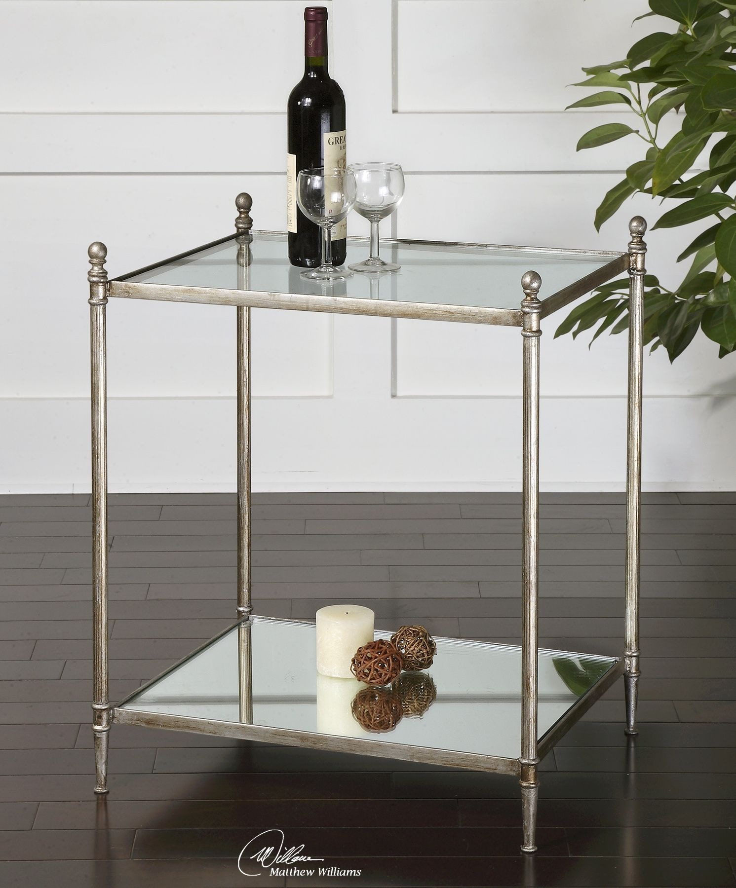 Uttermost Gannon Mirrored Glass End Table 24282