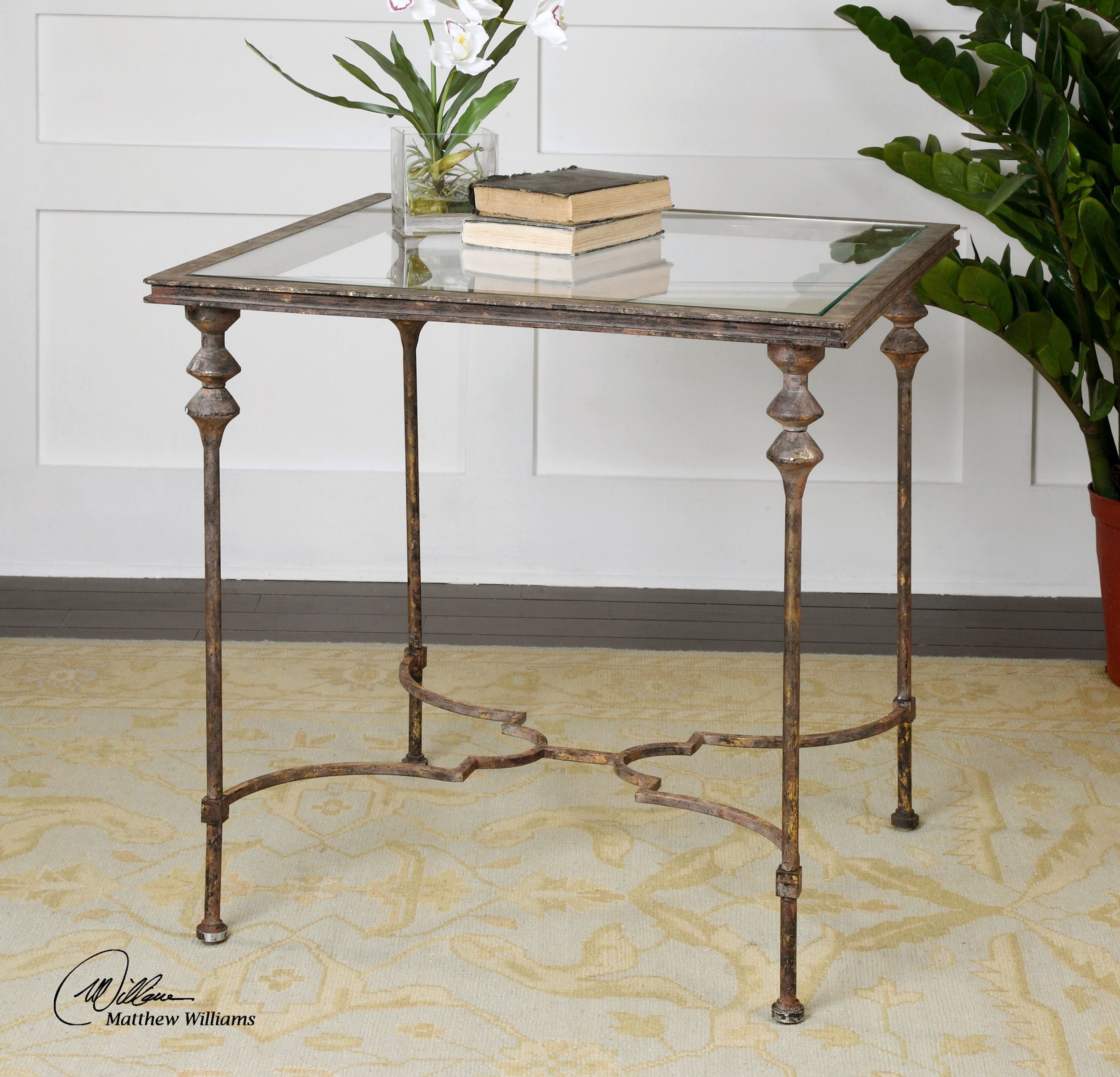 Amazing Uttermost Quillon Glass End Table Uttermost 24365