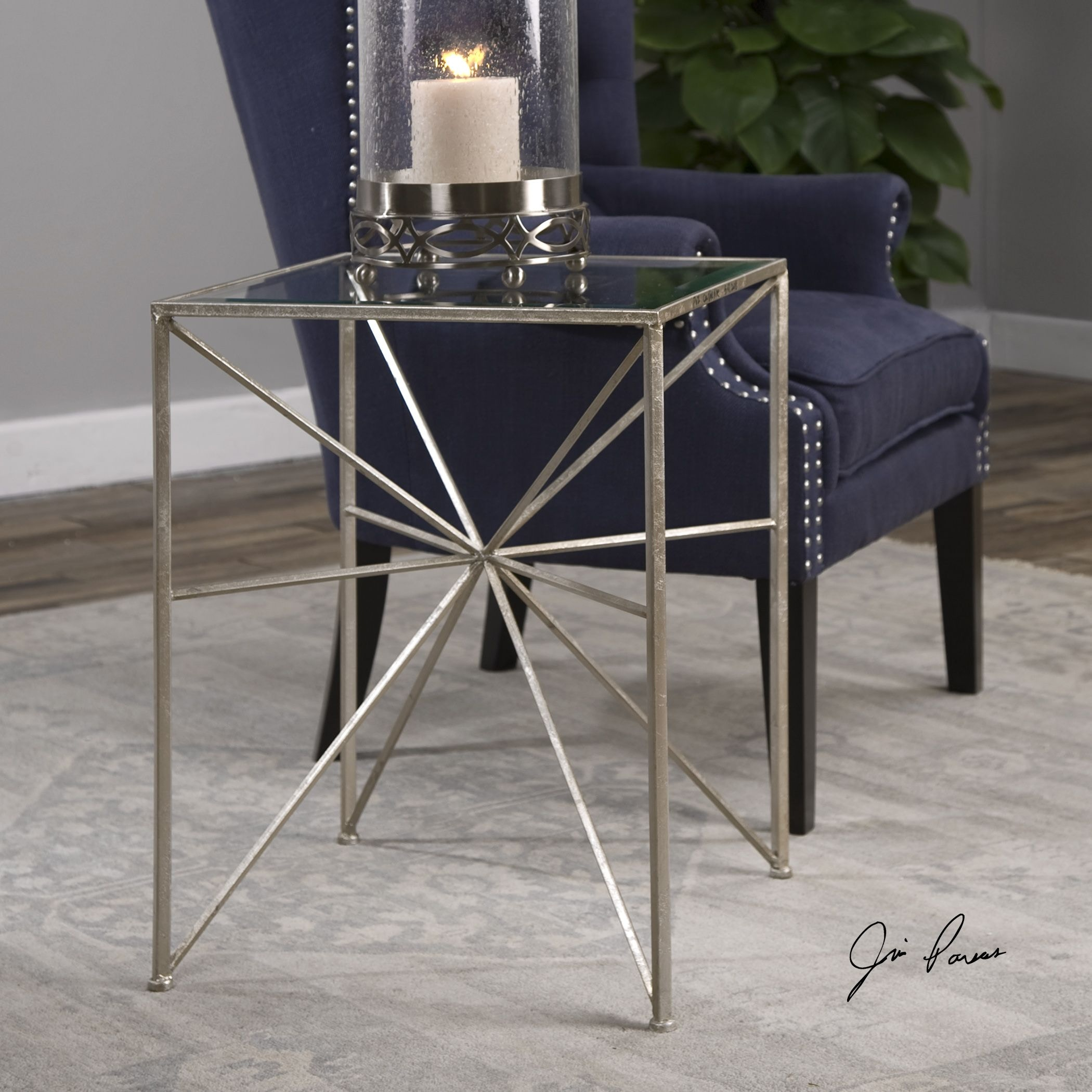 Uttermost Silvana Silver Side Table 24631