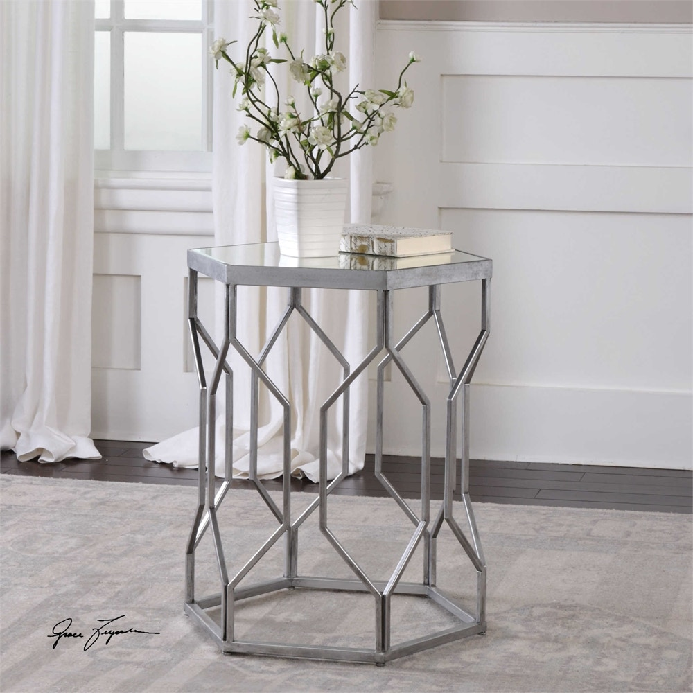 Uttermost Stellan Iron Accent Table 24742