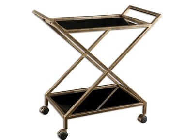 Uttermost Uttermost Zafina Gold Bar Cart 25013