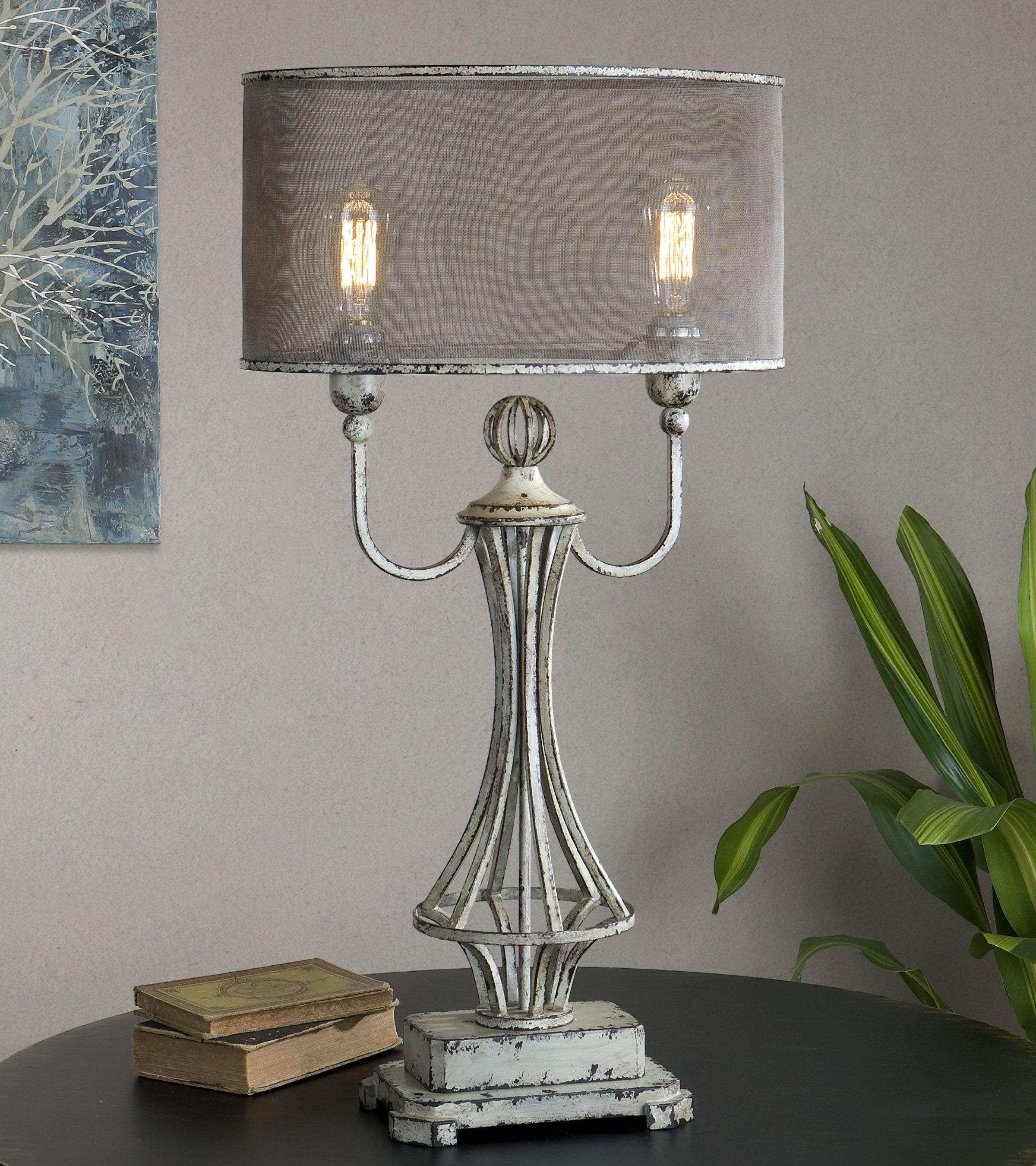 Uttermost Pontoise Aged Ivory Table Lamp Uttermost 27008 1
