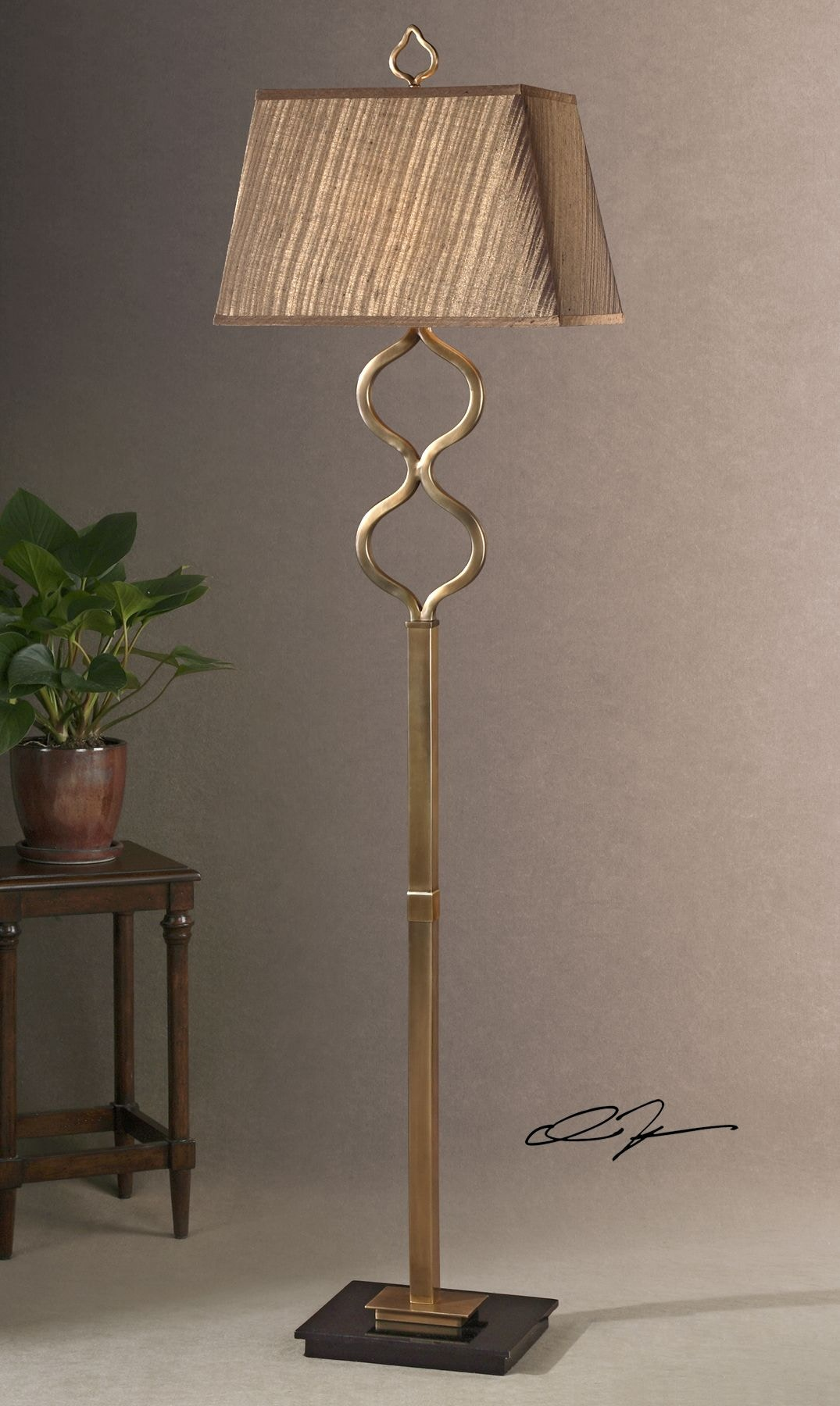 uttermost lamps and lighting jareth coffee bronze floor lamp 28956. Black Bedroom Furniture Sets. Home Design Ideas