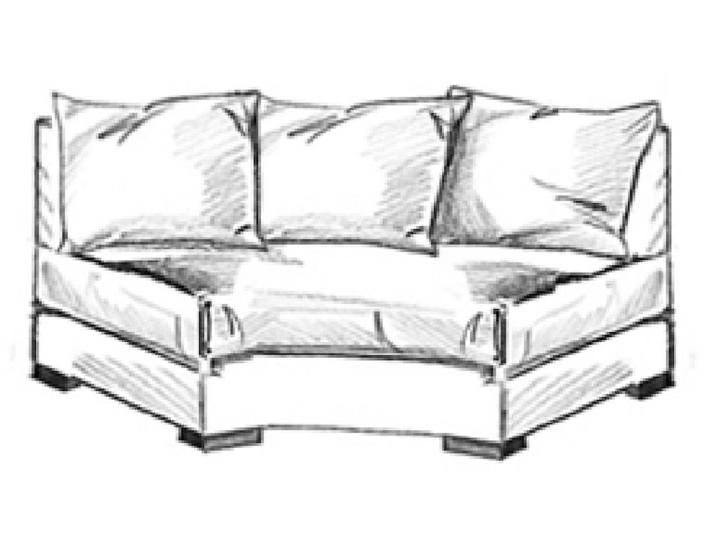 vanguard furniture w170 awl living room michael weiss reynolds armless wedge loveseat. Black Bedroom Furniture Sets. Home Design Ideas