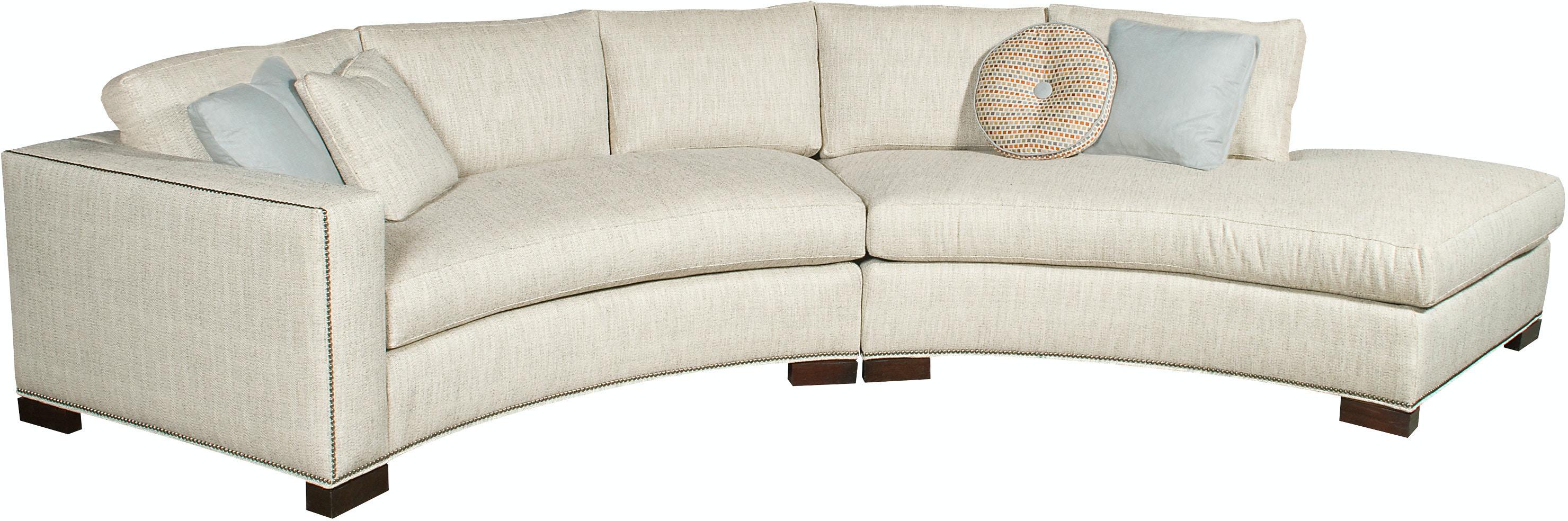 Vanguard Furniture W180 LAJ Living Room Bennett Left Arm Curved Sofa