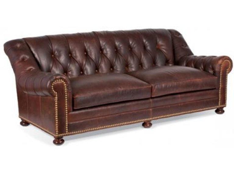 Whittemore Sherrill 231 03 Living Room Leather Tufted Sofa