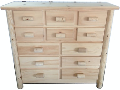 AH Woodworking Rustic 12 Drawer Dresser 12DDR-RU UNF