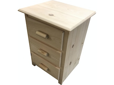 AH Woodworking 3 Drawer Nightstand 3DNS-CS-UF