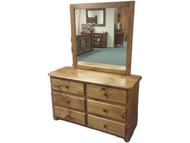 AH Woodworking Traditional Dresser and Mirror 6DDR-TR-CSCUT / MIRLS-CS GO