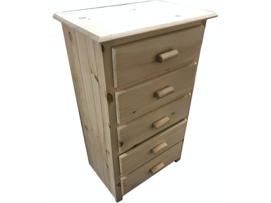 AH Woodworking Cabin Style Chest 5DCH-CS UNF