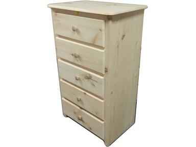 AH Woodworking 5 Drawer Chest 5DCH-TR-CSCUT UNF