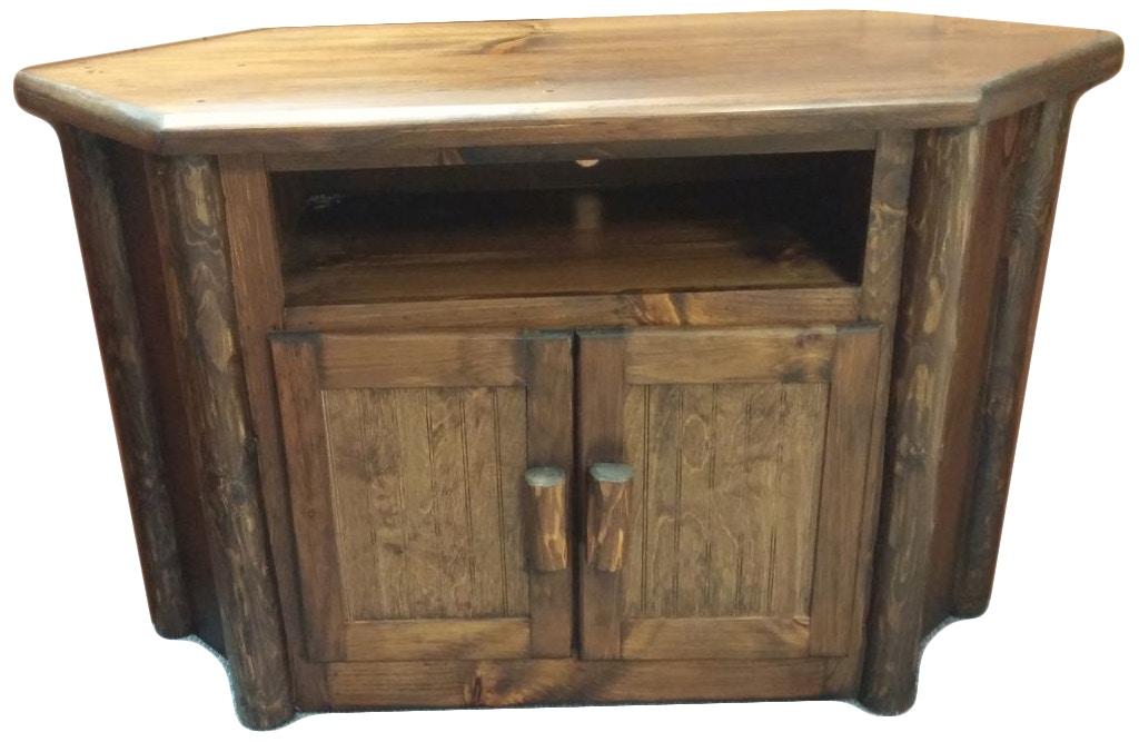 Ah Woodworking Rustic Corner Tv Stand Tvstcor Ru Wal Abernathy S
