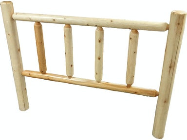 AH Woodworking Twin Log Headboard 238E-HDBD