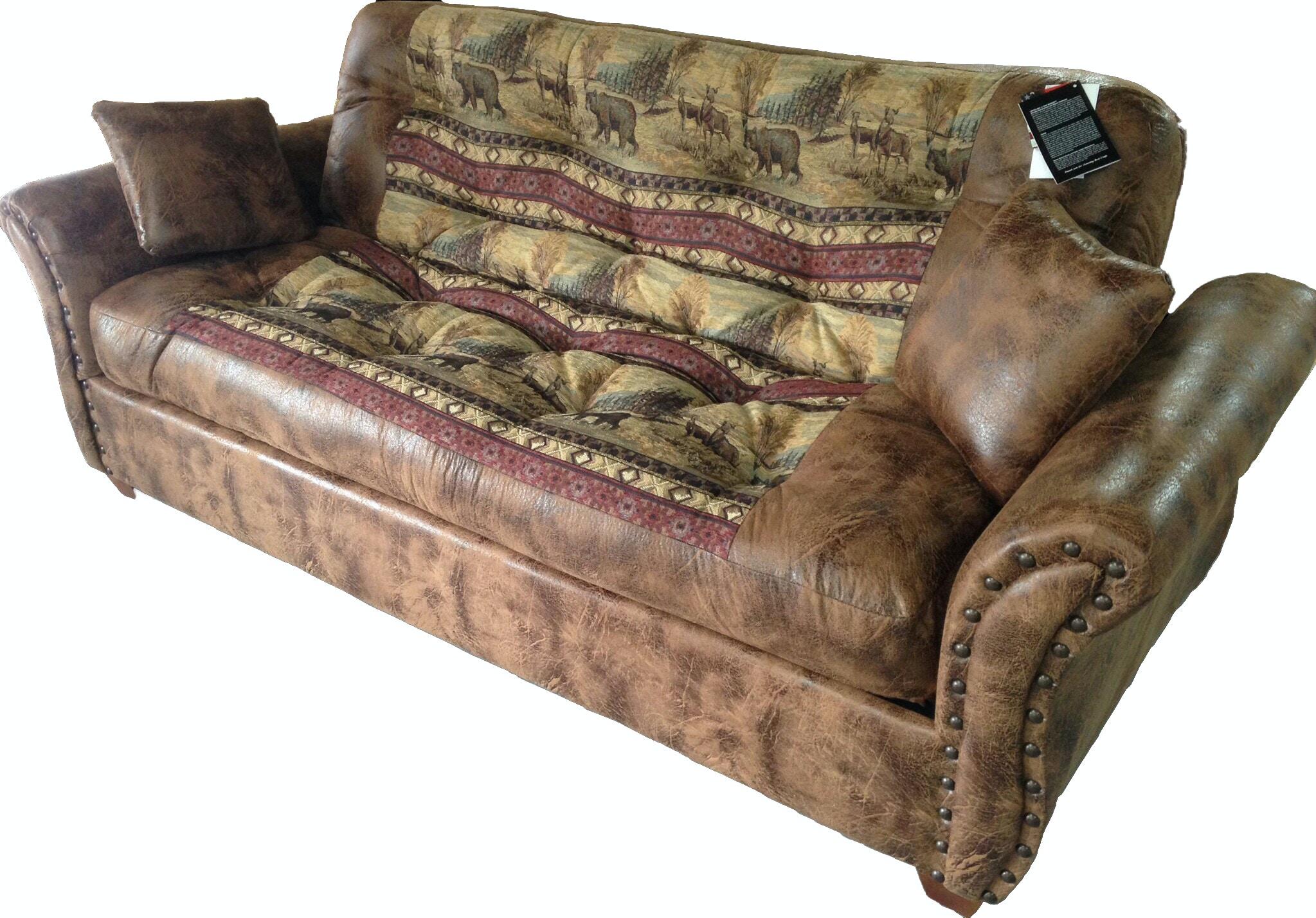 rustic futon