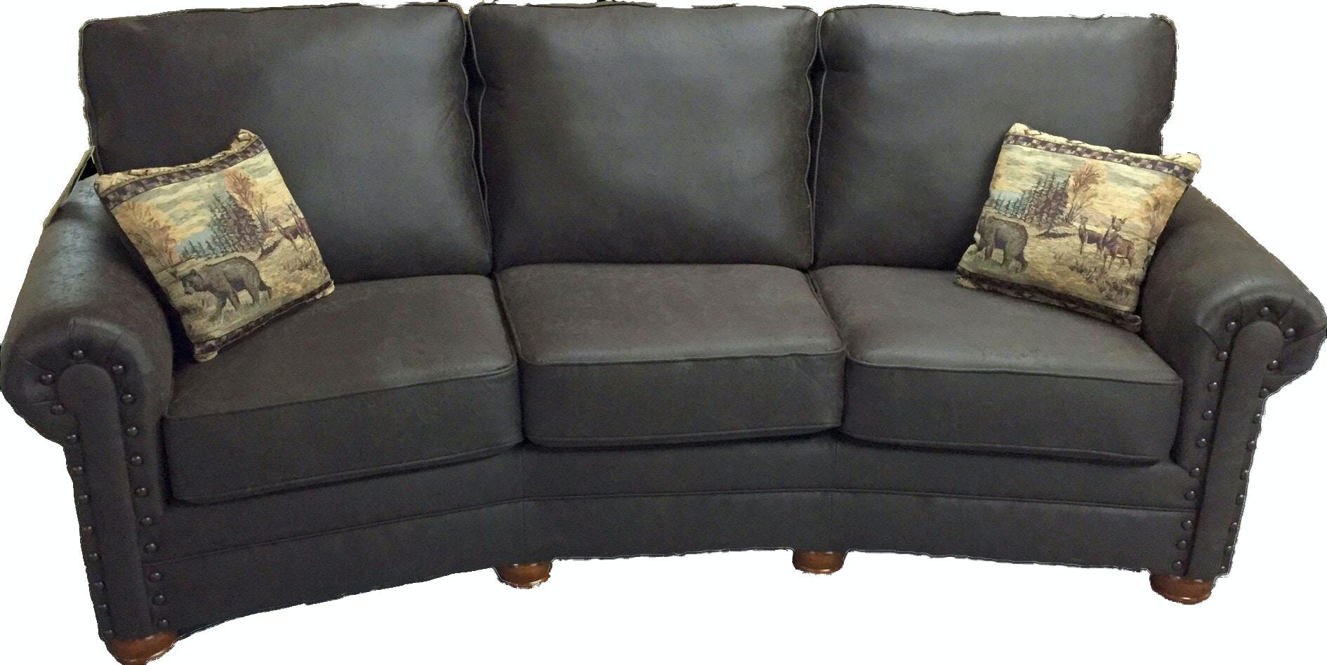 Best Craft Conversational Sofa In Colt Brown 8039 Colt Brown