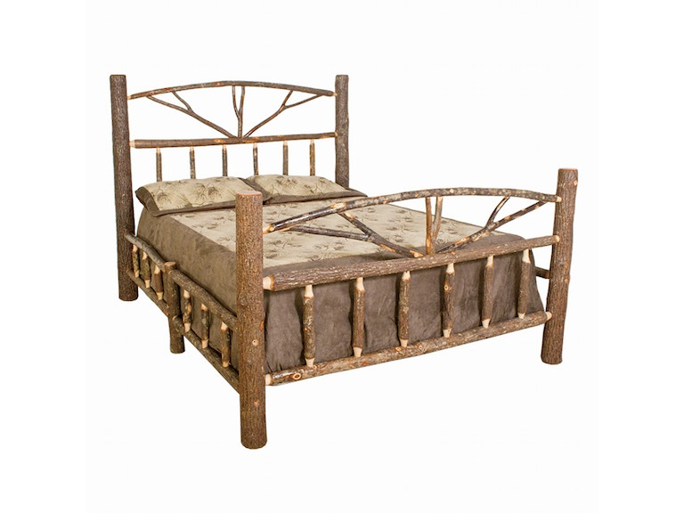 Best Craft Rustic Hickory Queen Bed H453 Qbed Abernathy S Complete