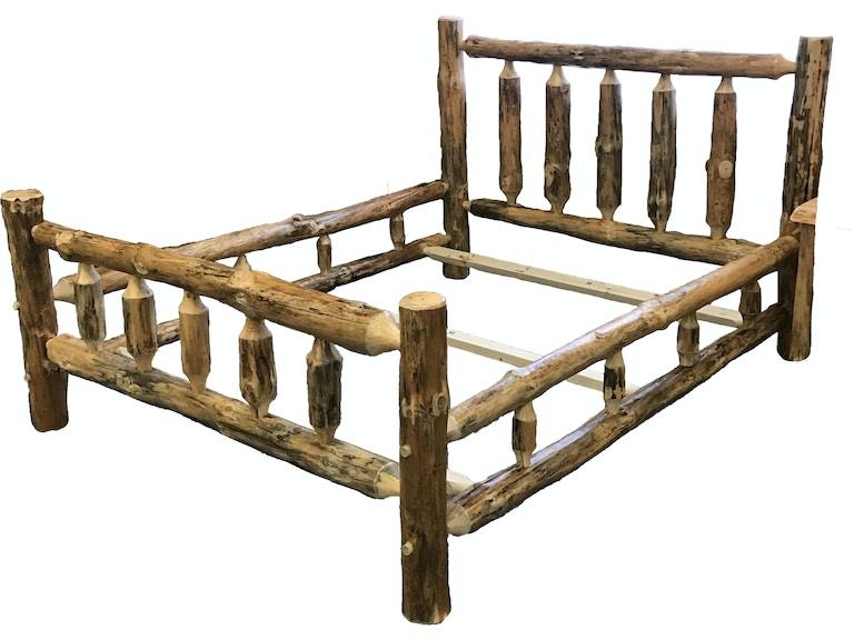 Best Craft Bedroom Queen Log Bed RRP153 - Abernathy\'s Complete Home ...