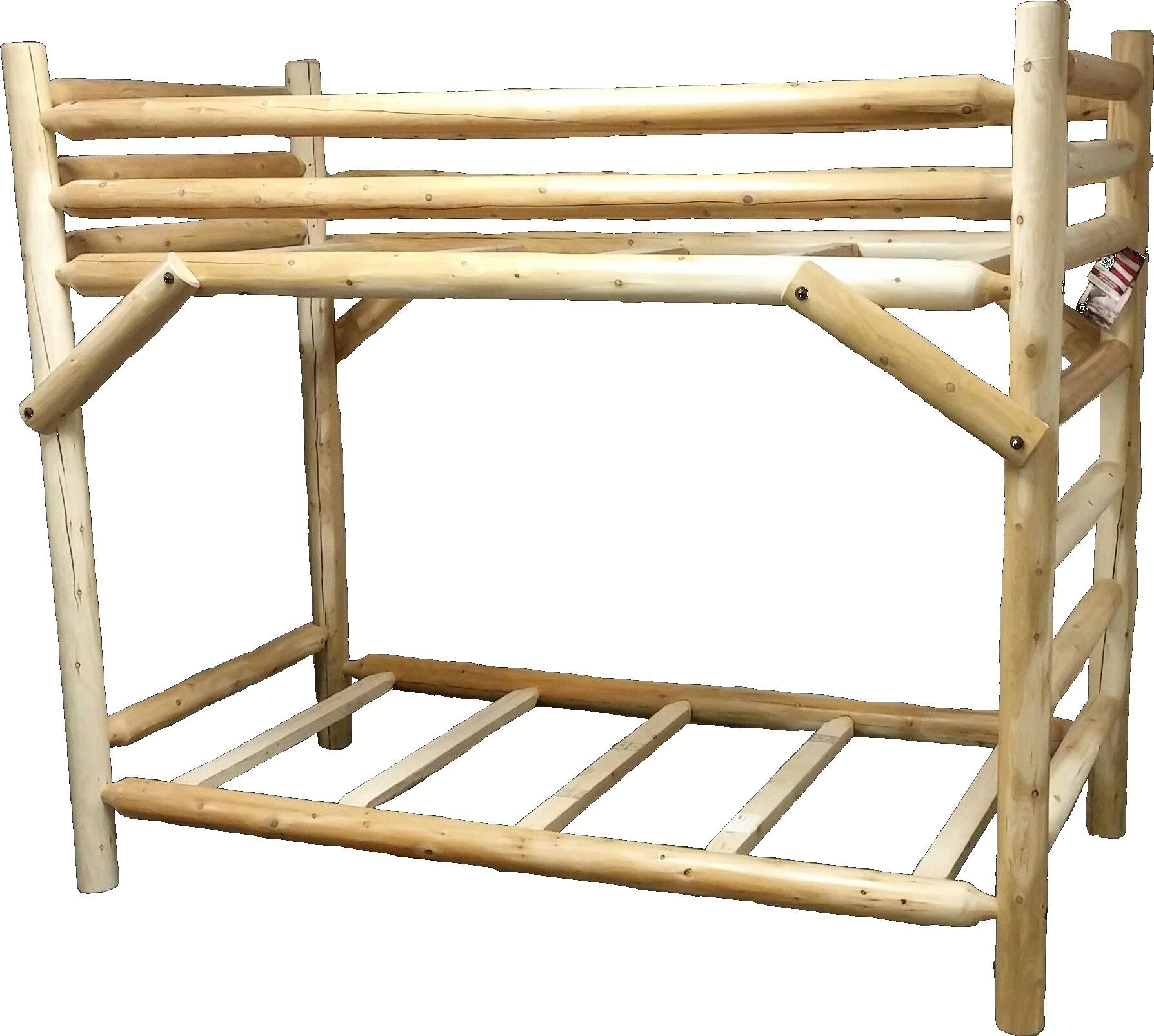 Best Craft Log Bunk Bed W514