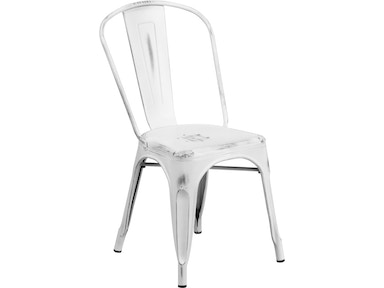 Flash Furniture Side Chair Et 3534 Wh Gg