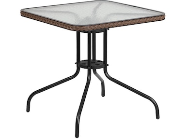 Flash Furniture Dining Table TLH-073R-DK-BN-GG