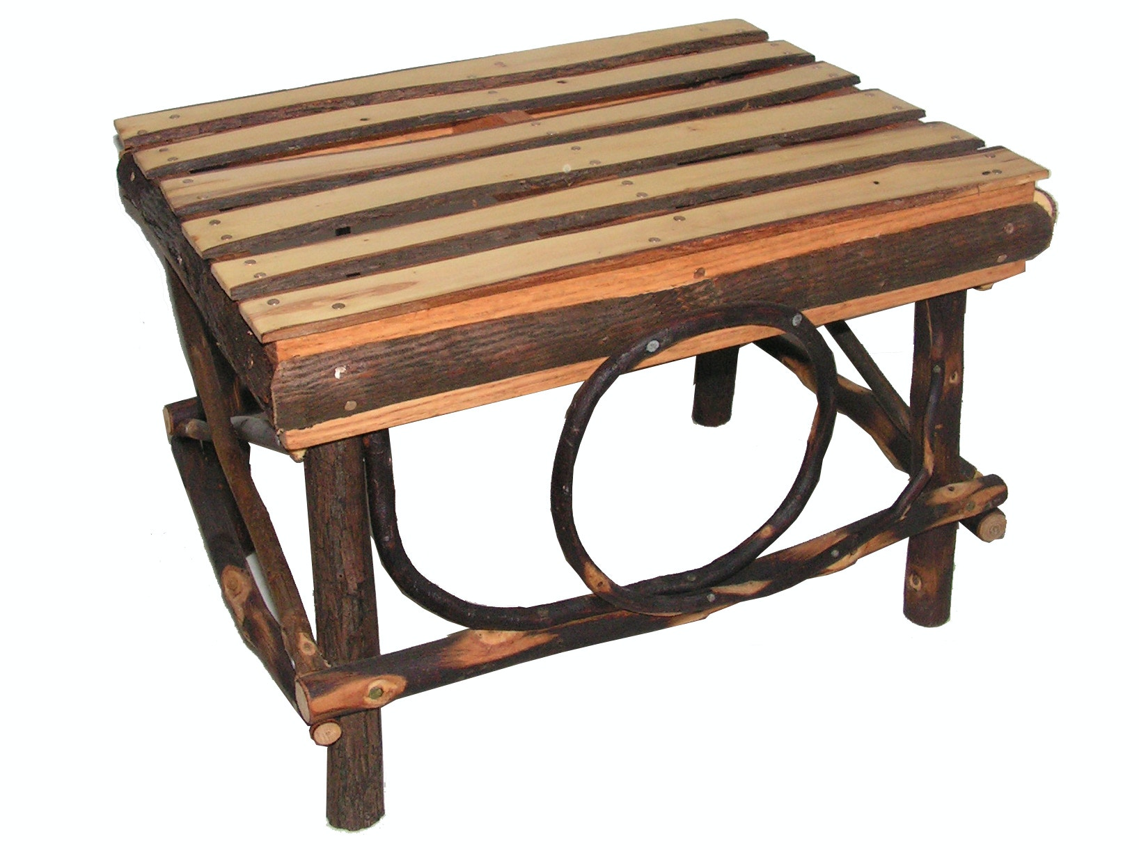 Hickory Mountain Bentwood Footstool HH400