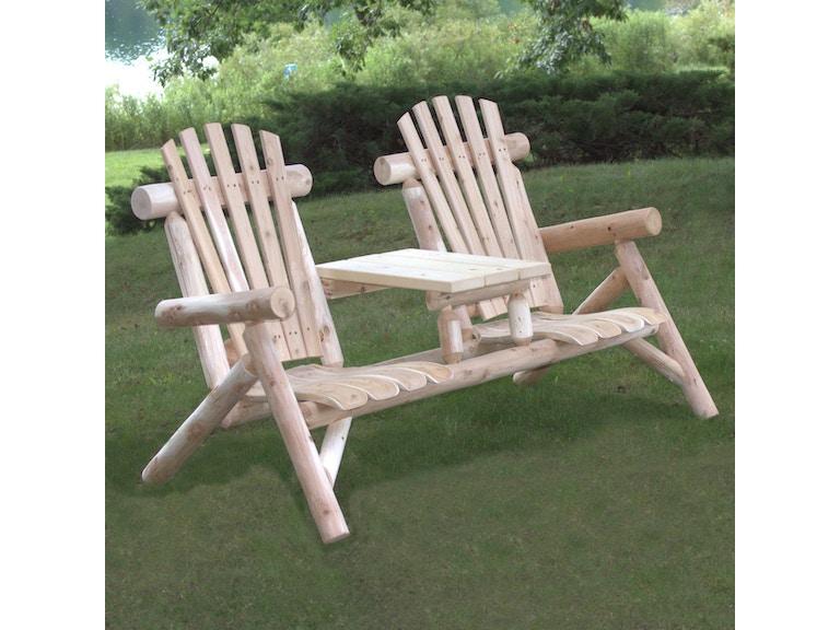 Lakeland Mills Outdoor Patio Cedar Log Tete A Tete Set Cf1229