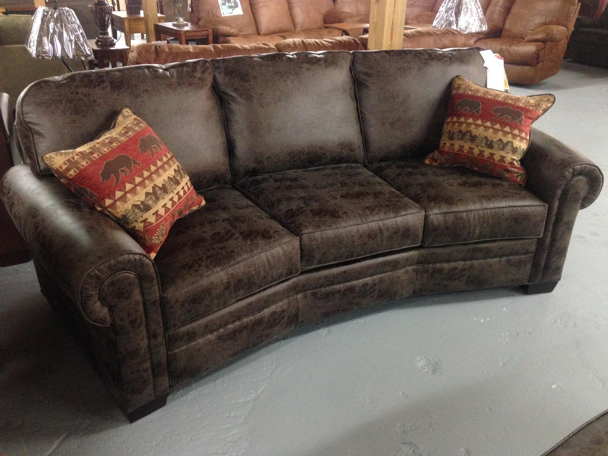 Marshfield Furniture Living Room Conversation Sofa 2476 37