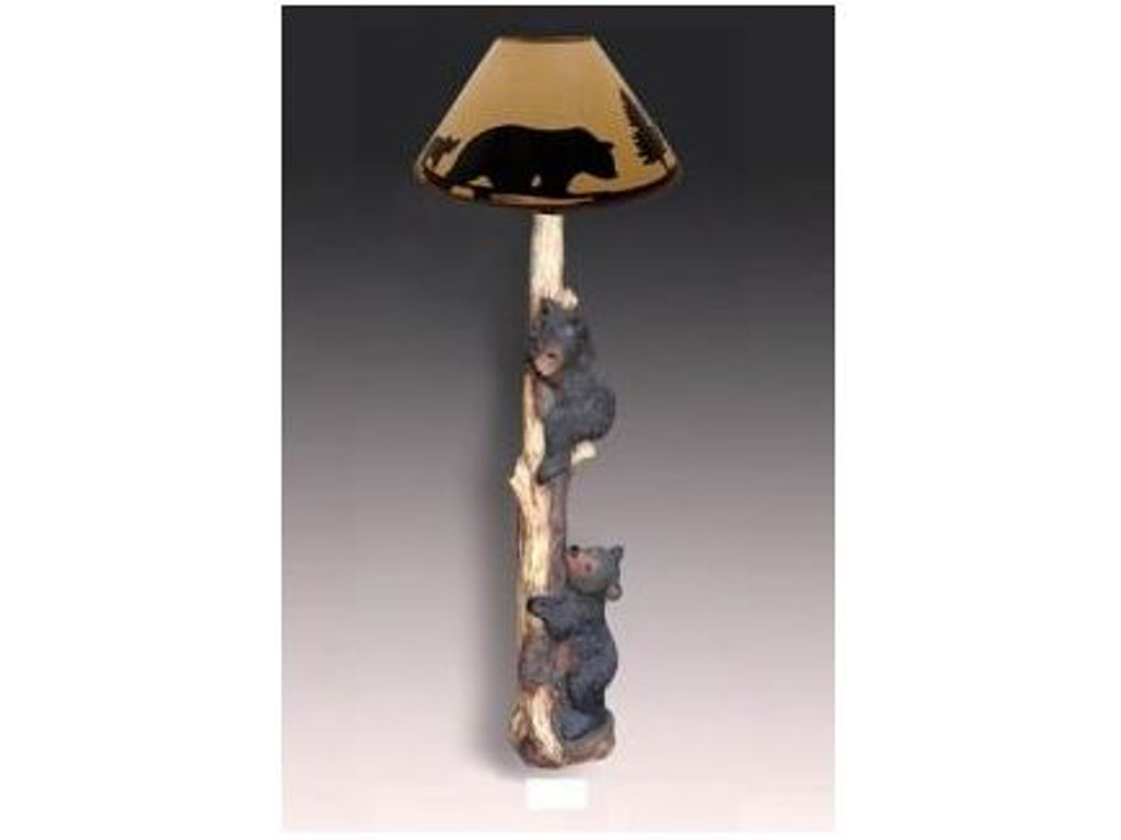 Rustic decor lamps and lighting bear floor lamp 4555 abernathys rustic decor bear floor lamp 4555 at abernathys furniture geotapseo Choice Image