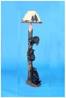 Rustic Decor Accessories Bear Floor Lamp 7969 Abernathy