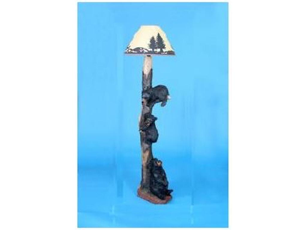 Rustic decor accessories bear floor lamp 7969 abernathy for Floor lamp with bear