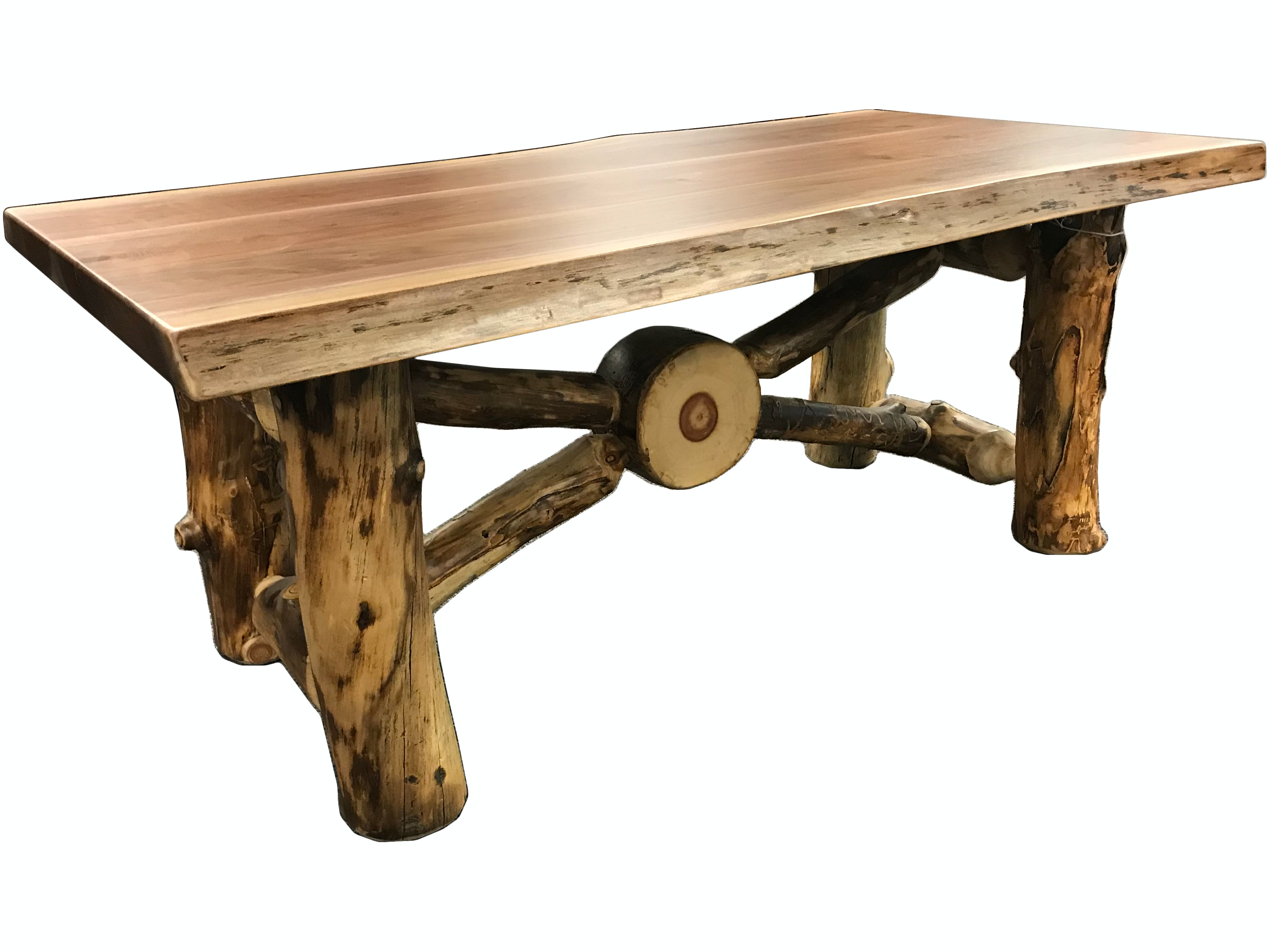 Quad M Wood Products Rustic Coffee Table AS RW RXCT